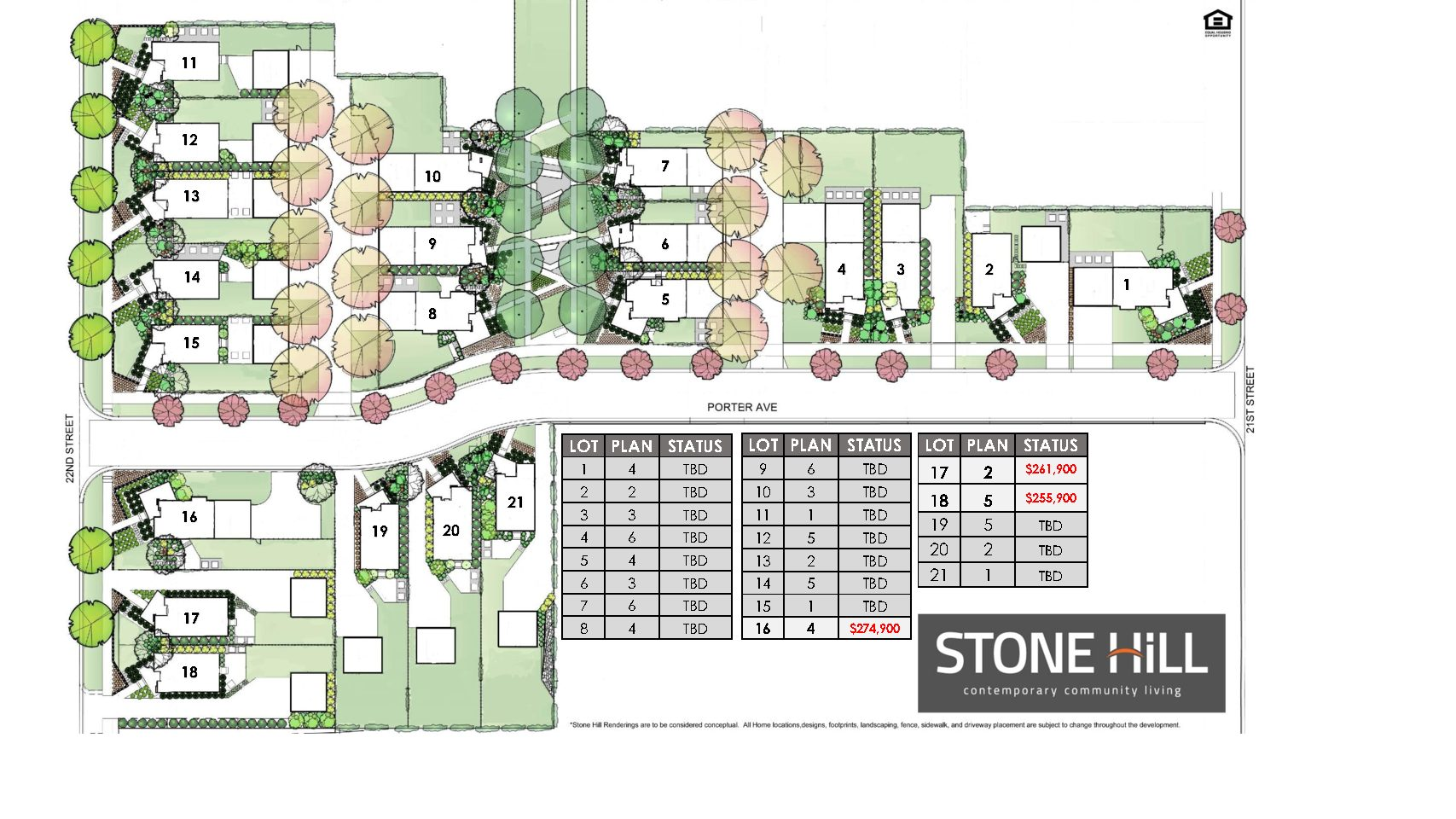 Site plan stone hill homes for Planner site